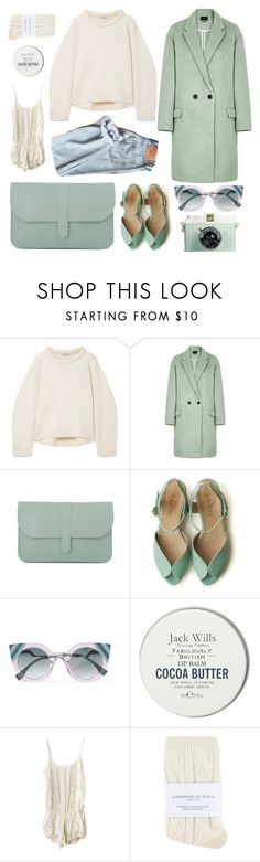 """""""milk and mint"""" by caterinabi ❤ liked on Polyvore featuring T By Alexander Wang, Isabel Marant, Swedish Hasbeens, Fendi, Jack Wills, Cleobella, Johnstons, simple, mint and milk"""