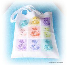 Tote bag coquelicot multicolore de Céline Photos Art Nature ou sac shopping : Sacs à main par celinephotosartnature