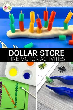 Dollar Store Fine Motor Activities that are Cheap and Fun