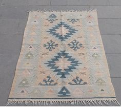 vintage pastel turkish kilim professionally cleaned very good condition two…