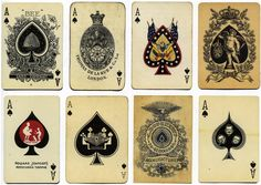 Vintage cards ~ Aces of Spades.