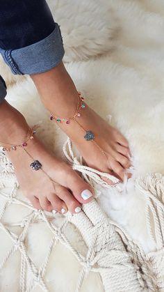 Luxury Rhinestone Crystal Tassel Anklets Chain Women Ankle Barefoot
