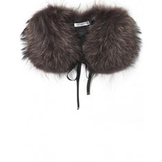 Women's Yves Salomon Raccoon Fur Tipped Collar ($230) ❤ liked on Polyvore