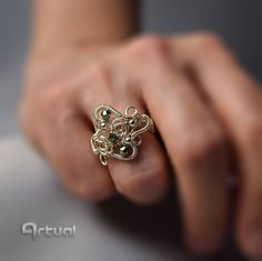 Crystal ring, wire wrapped ring, statement ring, gift for her, hippie jewelry, wire wrap jewelry, gift for women, filigree ring, boho ring by Artual on Etsy https://www.etsy.com/listing/291754669/crystal-ring-wire-wrapped-ring-statement