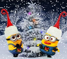 minions weihnachten and navidad on pinterest. Black Bedroom Furniture Sets. Home Design Ideas