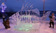 fairbanks+humor | Espectaculares esculturas de hielo – Marcianos