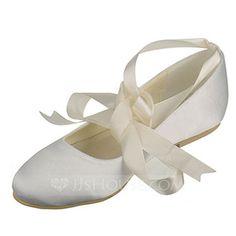 Frauen Seide wie Satin Flascher Absatz Geschlossene Zehe Flache Schuhe mit Des Bowknot (047060526)