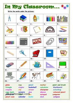 In my classroom englannin sanasto, englannin luokka, englannin oppitunnit, Vocabulary Worksheets, English Vocabulary, English Grammar, English Language, Library Activities, English Activities, English Classroom, Classroom Language, English Teaching Materials
