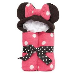 Minnie Mouse Hooded Bath Towel  I was going to buy until I found out it's 52 dollars! Still cute though.
