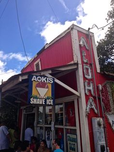 aoki's shave ice on the north shore. #oahu #honolulu #hawaii