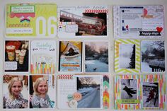 Project Life 2015 Weeks 6 left plus insert