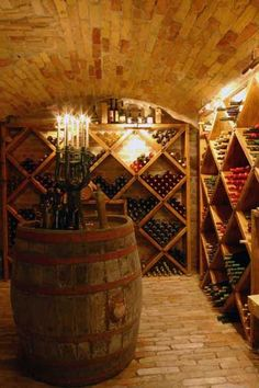 Absolutely necessary wine cellar. #WineCellar