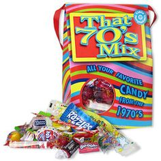 70's Decade Retro Candy Bag - Retro Candy, Glass Bottle Sodas & Quirky Gifts - Blooms Candy & Soda Pop Shop