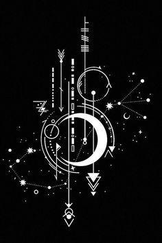 Geometric Tattoo Design, Geometric Shapes, Geometry Art, Dark Wallpaper, Art Drawings Sketches, Symbolic Tattoos, Aesthetic Art, Body Art, Tattoo Designs