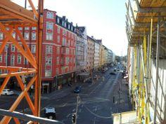Hotelausblick München. Noch einen Baustelle, aber nicht mehr lange.