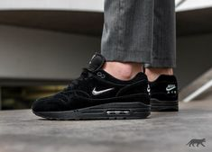 new products 6eaa0 86f0e Nike Airmax 1 x Jewel Black Suede Whos likes these Tag a friend and use