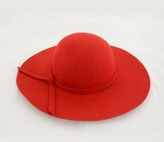 Cappello a tesa larga in feltro - Rosso - Basic Storm - cappello a tesa  larga c06c88425f81
