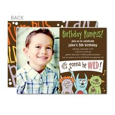 Birthday Invitations w/ bday picture every year :)