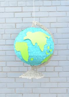 Practice your geography with this DIY globe piñata!