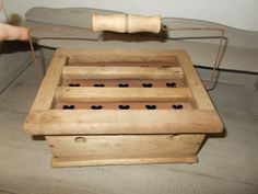 Antique Vintage French Wooden Carriage Foot Warmer with intact internal metal box by MaisonbrocanteFrance on Etsy
