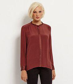 Eileen Fisher Silk Long-Sleeve Shirt