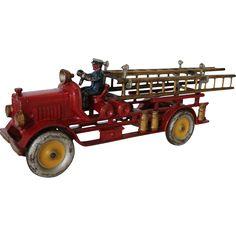 Metal Toys, Tin Toys, Toy Trucks, Fire Trucks, Firefighter Room, Red Truck Decor, Corgi Toys, Plastic Model Cars, Hobby Toys