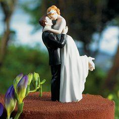 True Romance Couple Wedding Cake Topper (3 Skin Tones) (Wedding Star 9013) | Buy at Wedding Favors Unlimited (https://www.weddingfavorsunlimited.com/true_romance_couple_cake_topper.html).