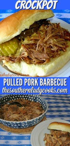 This pulled pork barbecue is one of our most requested recipes, has great reviews on the site and is delicious. #crockpot #slowcooker #barbecue #pork