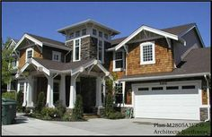 Craftsman, Shingle, Arts and Crafts, Bungalow House Plans - Home Design CD 2805 # 9288   Midwest $250,000