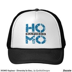 HOMO Sapiens - Diversity In Gender Identity, Blue Trucker Hat for Anyone With Too Much Primate DNA, Neanderthal or Caveman Genes, for Archaeology and Stoneage Enthusiasts, for Social Justice and Gender Equality Warriors, and for Proud Homosexuals - #science #archiology #neanderthal #evolution #gay #primates #humanancestry #homosexual #stoneage #archiologist #caveman #transgender #genderidentity #genderfluid