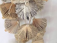 folded paper book ornaments