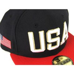 best service 05122 132cf A by copping this dope USA New Era Fitted Hat. The crown is Navy and the  Brim is Red.