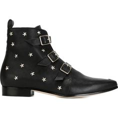 Jimmy Choo Marlin Ankle Boots (7.235 ARS) ❤ liked on Polyvore featuring shoes, boots, ankle booties, black, star, ankle boots, black shootie, pointed toe booties, black bootie and black pointed toe booties