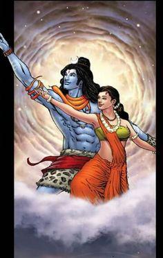 Shiv and shakti Shiva Parvati Images, Mahakal Shiva, Durga Images, Shiva Art, Hindu Art, Krishna, Kali Hindu, Hanuman, Lord Shiva Pics