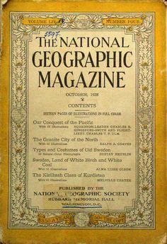 La 1ra. ed. apareció en octubre de 1888, nueve meses después de la fundación de la National Geographic Society. Una maravillosa publicación fácilmente identificable por su franja amarilla en la portada. http://elzo-meridianos.blogspot.com/2012/05/el-archivo-mas-completo-de-la-revista.html