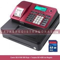 cajasregistradoras.com les ofrece la nueva Caja Registradora Casio SE-S100 en color Rojo + Tarjeta Memoria SD 4GB x solo 199€ IVA incluido. 21h