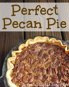 Perfect Pecan Pie - Graceful Little Honey Bee I'm normally in charge of pies for Thanksgiving dinner, but each year I seem to forget what recipe I used the year before. Well this year I can tell you that I've found a Southern Pecan Pie, Bourbon Pecan Pie, Southern Food, Karo Pecan Pie, Southern Recipes, Pecan Recipes, Pie Recipes, Dessert Recipes, Grandma's Recipes