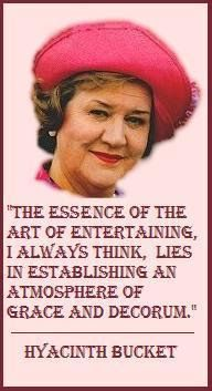 """Hyacinth Bucket (that's pronounced """"Buhkay"""" 😉) from the British comedy tv show 'Keeping Up Appearances' which used to be shown on PBS in the USA British Humor, British Comedy, British Actors, Make Me Happy, Make Me Smile, Keeping Up Appearances, Comedy Tv, Old Tv Shows, Me Tv"""