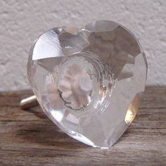 glass heart cupboard door knob by pushka knobs | notonthehighstreet ...