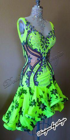 Ballroom Latin Dress and ballroom jewelry designed and created by Sonja Ballin… Salsa Outfit, Salsa Dress, Ballroom Costumes, Dance Costumes, Beautiful Dresses, Nice Dresses, Baile Latino, Latin Ballroom Dresses, Dance Fashion