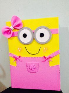 Kids Crafts, Foam Crafts, Preschool Crafts, Paper Crafts, Diy Notebook Cover, Simple Birthday Cards, Handmade Birthday Cards, Folder Decorado, Kids Gift Bags