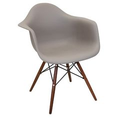 Neo Flair Mid Century Modern Espresso Wood Legged Dining Chair Polycarbonate/Cappuccino - LumiSource : Target