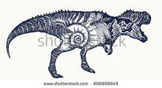 Tyrannosaur Double Exposure Tattoo Art T Rex Dinosaur Mons on Awesome T Rex Tattoo Tatting and Body Art Tattoos - Swiftlet Body Art Tattoos, New Tattoos, Cool Tattoos, Tattoo Art, Antler Tattoos, Tribute Tattoos, Dinosaur Tattoos, Dinosaur Art, Future Tattoos
