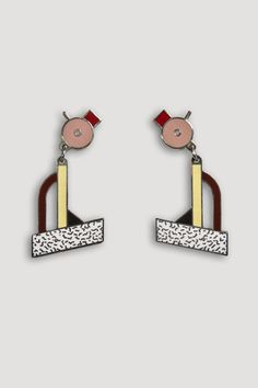 the modern archive - Tahiti Earrings by Ettore Sottsass