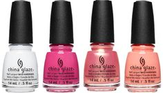 Blanc Out, Kiss My Sherbet Lips ,Moment In The Sunset, I Just Cant-Aloupe. - China Glaze Spring Fling, spring 2017