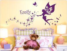 Epic Wandtattoo Kinderzimmer Fee mit Wunschtext