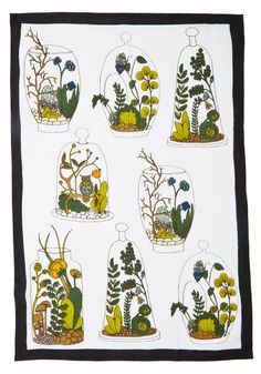 Decor on Display Tea Towel Set. You may be known for your green thumb, but today youre cultivating compliments on your decorating skills by cleaning up with this linen tea towel set! #multi #modcloth