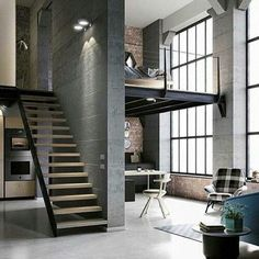 Best Ideas For Modern House Design & Architecture : – Picture : – Description Modern Loft Design by the Urbanist Lab Industrial House, Industrial Interiors, Urban Industrial, Industrial Design, Industrial Apartment, Industrial Style, Industrial Furniture, Industrial Bedroom, Vintage Industrial