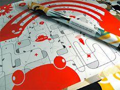Dancing Martians Wrapping Paper - Visual Notepad