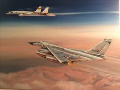 'Dynamic Duo' B58 Hustler and XB70 Valkyrie,  Oil on canvas by Richard Wheatland